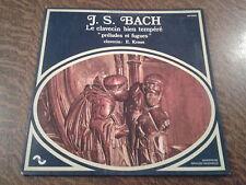 33 tours jean-sebastien bach le clavecin bien tempere preludes et fugues