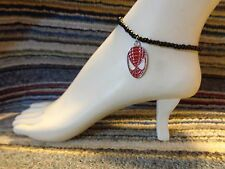 SPIDERMAN enamel charm ankle bracelet beads anklet stretchy handmade beach