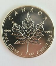 1 oz Canadian Maple Leaf Silver .9999 pure  Date 2013