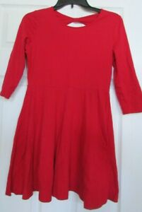 Girls The childrens place flare red dress sz 14 XL