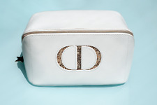 DIOR - MAKE-UP COSMETIC - BAG - WHITE  - eco leather & star zip - NEW