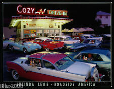 COZY DRIVE-IN/DINER & AMERICAN CARS (LUCINDA LEWIS),METAL WALL SIGN 40X30 cm USA