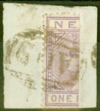 More details for nevis 1883 1d lilac-mauve sg26a bisected on piece fine used scarce