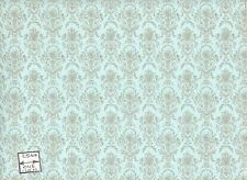 Marie Antoinette 96D2345 miniature dollhouse wallpaper 1/12 scale MiniGraphics