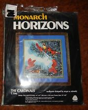 """Monarch Horizons """"The Cardinals"""" Needlepoint Kit (T1346) by Roger Reinardy"""