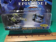 Star Wars Episode l Micro Machines Pod Racer Pack lll w/High Speed Wheels!
