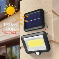 COB 56/100/120LED Solar Power Lamp PIR Motion Sensor Waterproof Wall Light CA