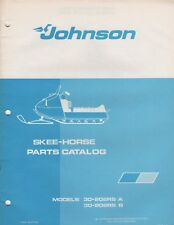 1972 JOHNSON SKEE-HORSE 30-202RS A, 30-202RS B SNOWMOBILE PARTS MANUAL (266)
