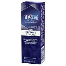 Crest3D White Luxe Diamond Strong Toothpaste, Brilliant Mint 116g / 4.1oz