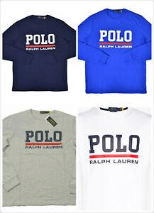 Polo Ralph Lauren Men's Logo Graphic Long Sleeve Crewneck T-Shirt Multi colors