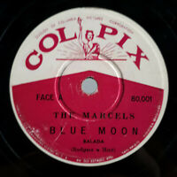 """THE MARCELS - """"Blue Moon/ Goodbye to Love"""" DOO-WOP 78 RPM BRAZIL COLPIX 1961"""