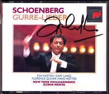 Zubin Mehta SIGNED Schoenberg Gurre-CANZONI Hans Hotter Marton Lakes Gurre canzoni