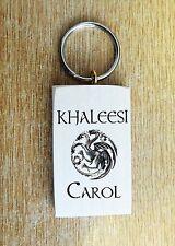Personnalisée game of thrones khaleesi daenerys targaryen dragon porte-clés cadeau