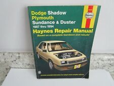 Haynes Repair Manual: Dodge Shadow Plymouth Sundance & Duster 1987-1994