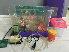 Vintage Disney Little Mermaid Ariel 3-Gallon Fish Tank with Many Accessories