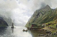 Norwegian Fjord by Anders Askvold. Landscape Art. Made in U.S.A Giclee Prints