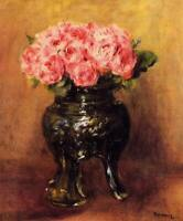 Auguste Renoir Roses in Chinese Vase Fine Art Print on Canvas Giclee Small 8x10