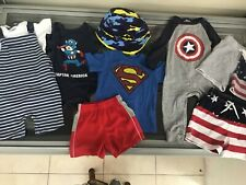baby boy clothing superheroes and more all 12-18 months good condition