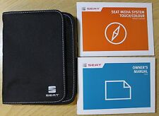 SEAT LEON Mk3 HANDBOOK MEDIA SYSTEM TOUCH  COLOUR OWNERS MANUAL WALLET 2013-2017
