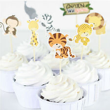 24 Pcs/lot Wild Animal Party Cupcake Toppers Cake Picks Decoration Cartoon