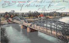 Schwerin Warthe Neumark / Ostbrandenburg Warthebrücke Postkarte 1908