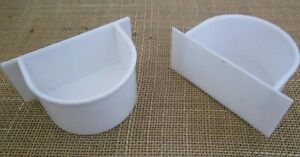 4  x cage inset feeder/drinker for bird cages,  medium .  Finches, budgies etc.