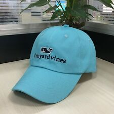 Vineyard Vines Adjustable Whale Baseball Cap Blue Embroidery hats Free Shipping