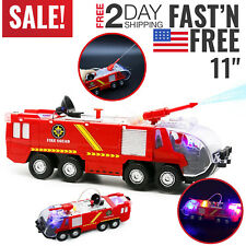 Toys for Boys Fire Truck Kids Toddler Car Lights 3 4 5 6 7 8 9 Year Old Boy Toys