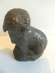 FANTASTIC COLD CAST BRONZE SCULPTURE OF A OLD ENGLISH SHEEP DOG
