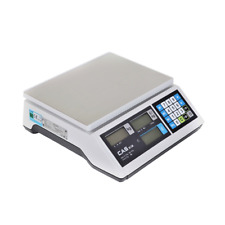 More details for cas retail weighing scale flat | scoop options - 6kg | 15kg - trade approved