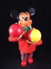 VINTAGE-GERMANY-MAX-CARL-ORIGINAL-MECHANICAL-WIND-UP-TOY-Mickey Mouse -MARACAS
