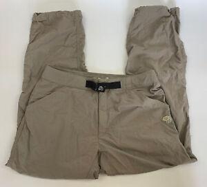Mountain Hardwear Grey Nylon Cargo Hiking Pants Mens Size M Medium Belted EUC