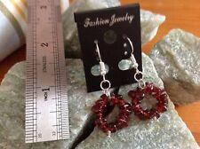 Mozambique Garnet (AGW10Cts) Stainless Steel Hook Earrings
