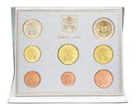 série de pièces 1 cts à 2 euro Coffret BU Vatican 2020