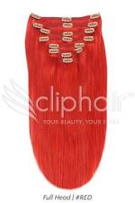 "18"" Full Head Premium Clip in Human Hair Extensions"