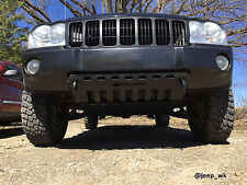 Jeep Grand Cherokee WK Bumper skid plate with shackle tabs powder coated black