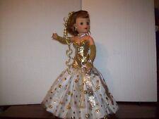 """Drop Dead Gorgeous Glittering N Gold 1950's18"""" Miss Revlon Doll Gown by Miss Dee"""