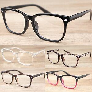Square Frame Keyhole Clear Lens Glasses  Women's Mens Fashion