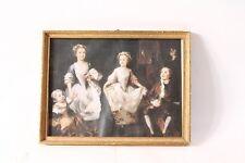 muy hermoso viejo Marco marco Marco de madera Cristal con Cuadro