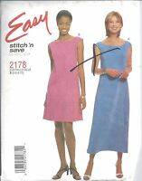 McCall's Sewing Pattern # 2178 Sleeveless Dress in 2 Lengths Size 4-6-8-10