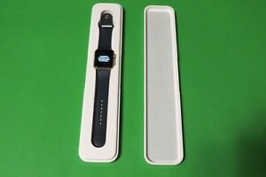 Apple Watch Series 1 42mm Gold Aluminum Case Midnight Blue Sport Band USED