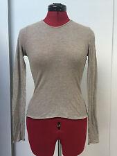 Banana Republic women's stone colour wool mix long sleeve t shirt