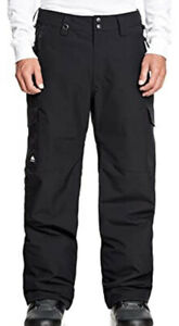 Men's QUIKSILVER Porter Insulated Snow Pants Snowboard SZ Small Waterproof.✨