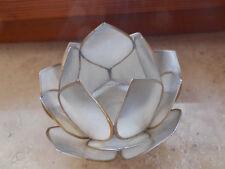 Die Schönheit der Lotusblüte, LOTUS-LICHT Abendsonne Teelicht, in Silber