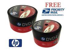 FREE PRIORITY SHIPPING!!! 100-Pack HP 16X Logo DVD-R Blank Disc 4.7GB Bulk Pack