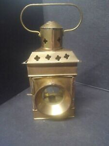 Brass Tea Light Candle Holder Hanging Lantern  Pre-owned COOL LOOK