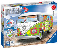 12532 Ravensburger VW Camper Van Woodstock 50th Anniversary 3D Puzzle 162pc