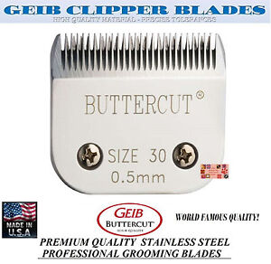 GEIB BUTTERCUT STAINLESS STEEL 30 BLADE*Fit Oster A5/A6,MOST Wahl,Andis Clipper