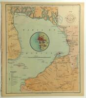 1899 Official US Navy Map Philippine Islands Bahia De Manila Cavite Bulacan