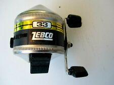 Vintage Zebco 33 Spincast Fishing Reel Rhino Tough Bait Alert Brunswick 1983